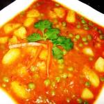 Алу Матар (Aloo Matar) - пикантное блюдо из картофеля, зеленого горошка, острых специй. И конечно, в пряном соусе для гурманов. Стоимость заготовки 150р