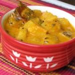 Алу Расвала (Aloo Raswala) - аппетитное индийское блюдо из картофеля, помидор, острых специй в пикантном соусе. Стоимость заготовки 150р